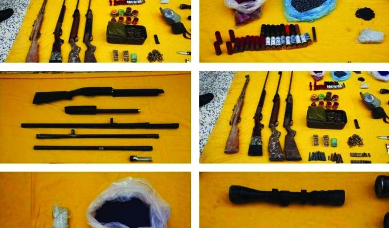 بعض الأسلحة التي تم ضبطها ــ من المصدر