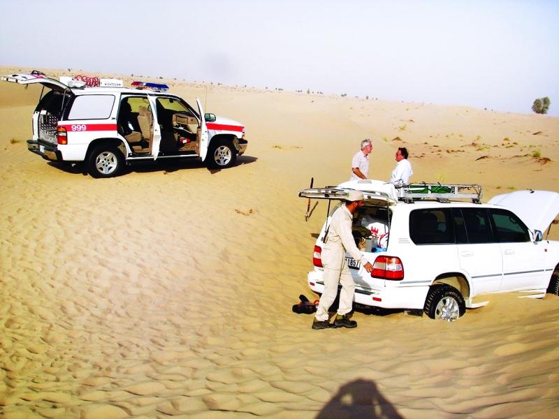 عملية إنقاذ في إحدى مناطق البر