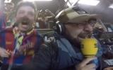 """الصورة: الصورة: معلق كاتالوني """"يفقد عقله"""" في ليلة برشلونة المجنونة"""