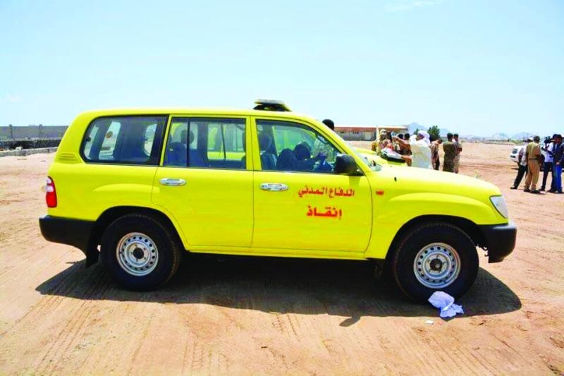 الدولة تدعم دفاع مدني عدن بـ5 سيارات البيان