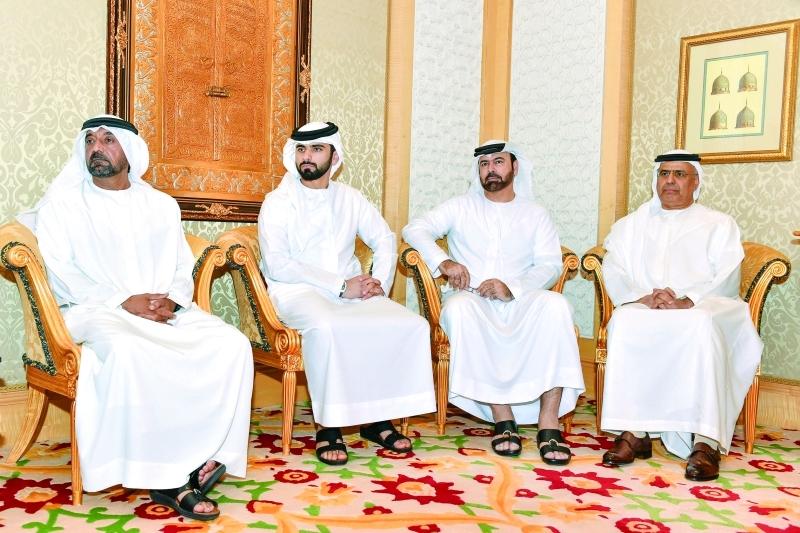 Ⅶ  أحمد بن سعيد ومنصور بن محمد ومحمد القرقاوي وعبيد الطاير خلال اللقاء