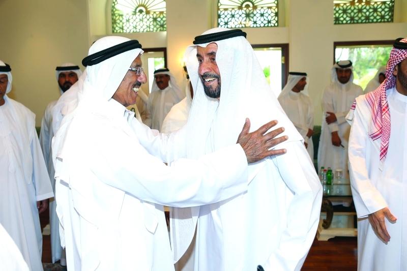 محمد بن خليفة وخلف الحبتور