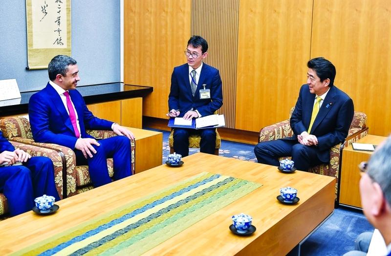 Ⅶ  وخلال لقاء سموه رئيس وزراء اليابان