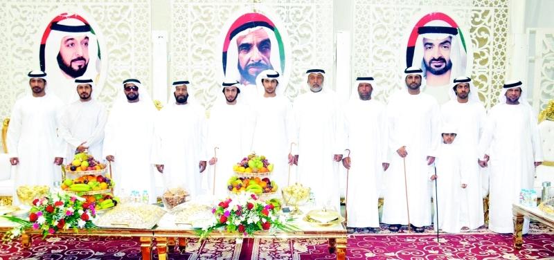 محمد حمد بن ركاض والعريسان وعدد من المدعوين
