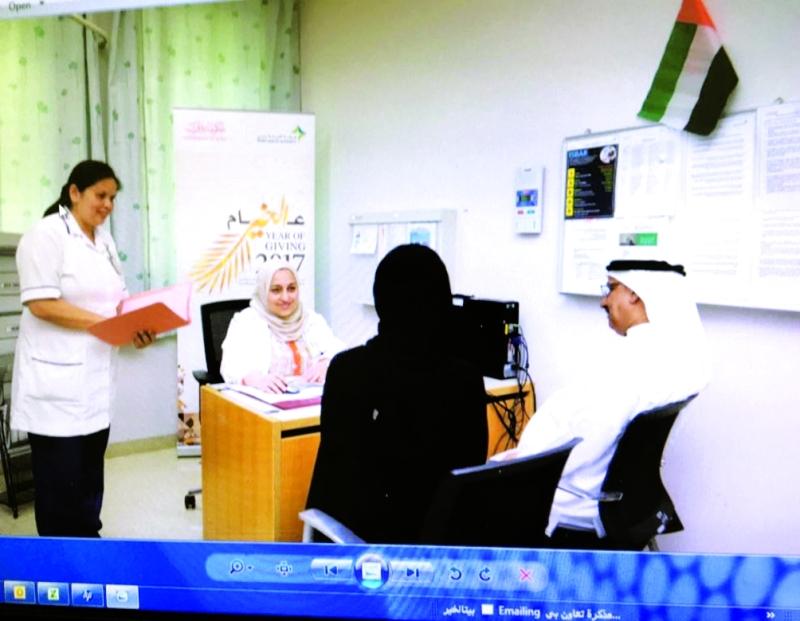 العيادة التطوعية في مستشفى لطيفة