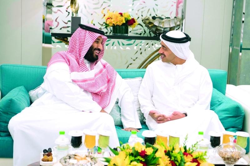 ■ عبدالله بن زايد ومحمد بن سلمان