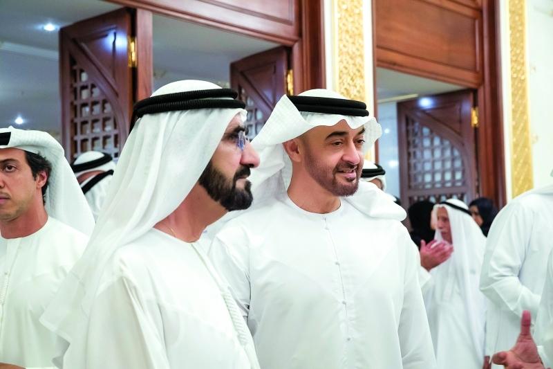 الصورة : ■ محمد بن راشد ومحمد بن زايد خلال اللقاء