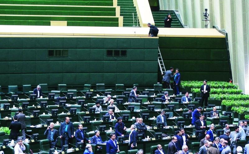 الصورة : لقطة عامة من داخل البرلمان الإيراني