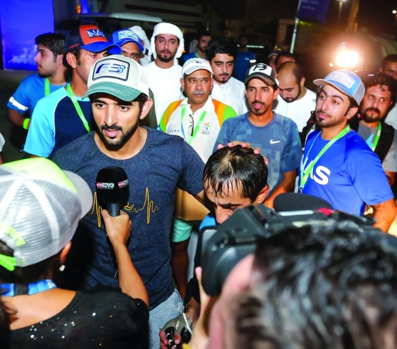 سموه يتحدث إلى قناة دبي الرياضية عن السباق