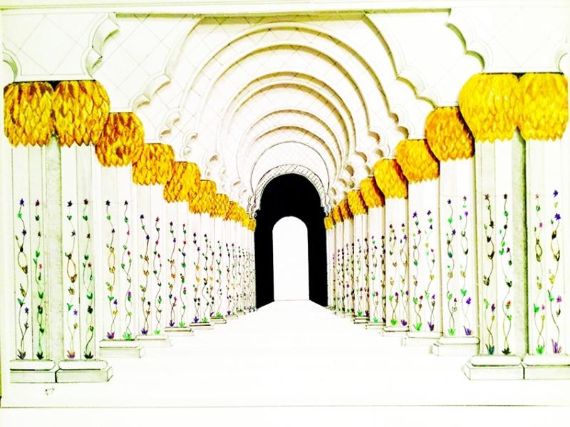 لوحة لمسجد الشيخ زايد بريشة الحزامي | من المصدر