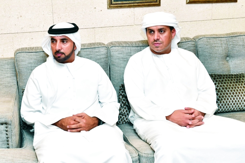 الصورة : سلطان السبوسي ومحمد بن مرخان