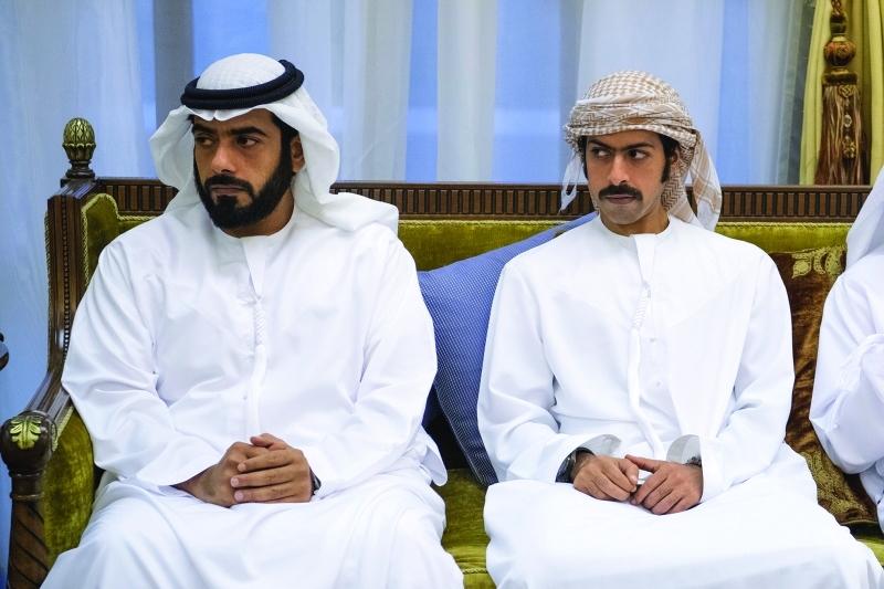 الصورة : خليفة وذياب بن طحنون
