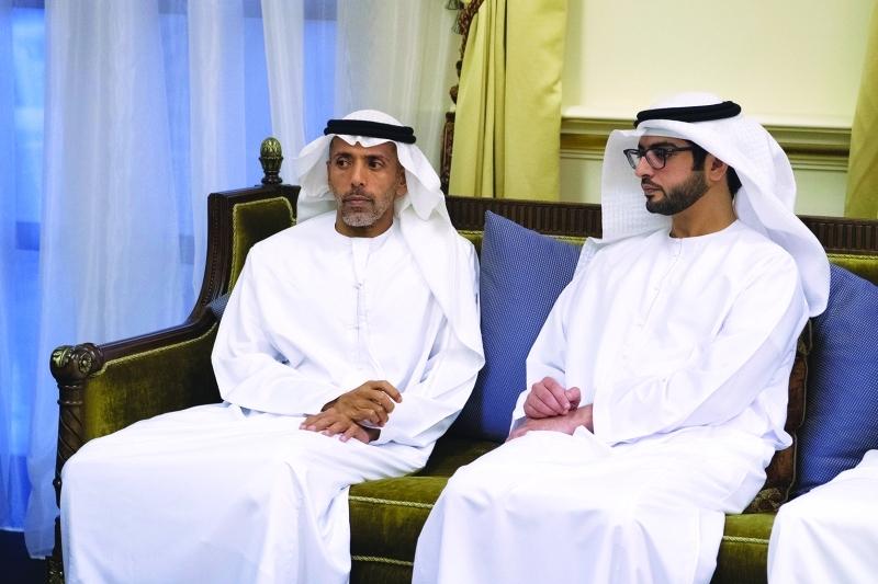 الصورة : أحمد بن طحنون وسلطان بن حمدان بن زايد