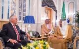 الصورة: خادم الحرمين الشريفين يستقبل وزير الخارجية الأميركي
