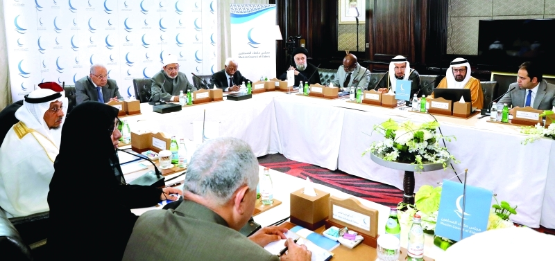 الصورة : Ⅶ جانب من اجتماع مجلس حكماء المسلمين في أبوظبي أمس   |  وام