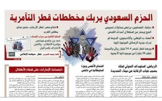 """الصورة: نشرة أخبار ملف """"خيانة قطر"""" – مع البيان 1 أغسطس"""