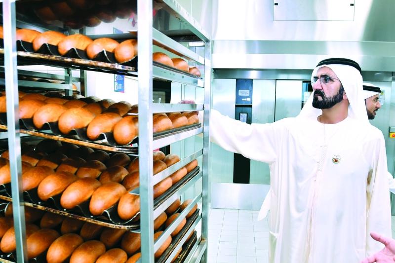 الصورة : سموه متفقداً منتجات المخبز المركزي
