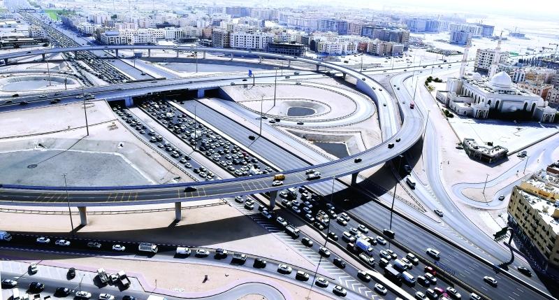الصورة : مراقبة الوضع المروري ورصد المخالفين جواً  |  من المصدر