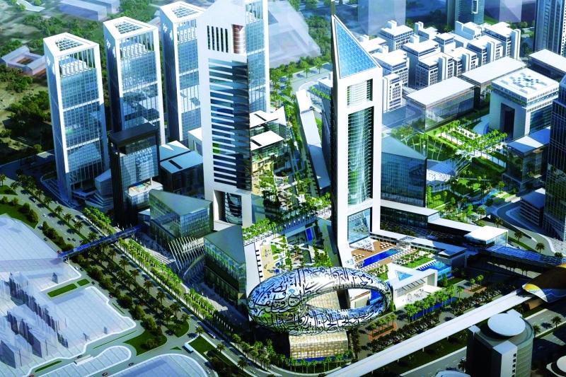 الصورة : ■ مجمع أبراج الإمارات للأعمال يقع في منطقة مركز دبي المالي العالمي  |  البيان