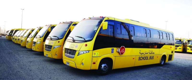 الصورة : ■ حافلات جديدة تنظم لأسطول النقل المدرسي لتاكسي دبي    من المصدر