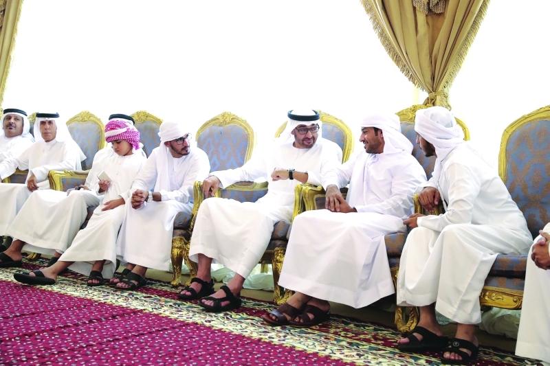 ■ سموه يعزي أسرة الشهيد جاسم الزعابي | تصوير: محمد الحمادي وماجد الشامسي وراشد المنصوري