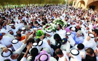 محمد بن راشد في وداع  عبد الحسين عبد الرضا: ودعنا ضحكة الخليج
