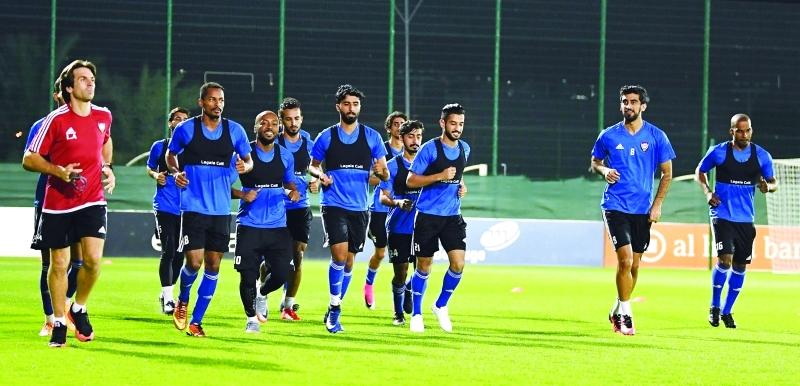 الصورة : Ⅶ منتخبنا يبدأ الاستعداد للمباراة المهمة أمام السعودية  |  البيان