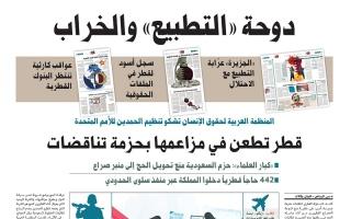 """الصورة: نشرة أخبار ملف """"خيانة قطر"""" – مع البيان 22 أغسطس"""
