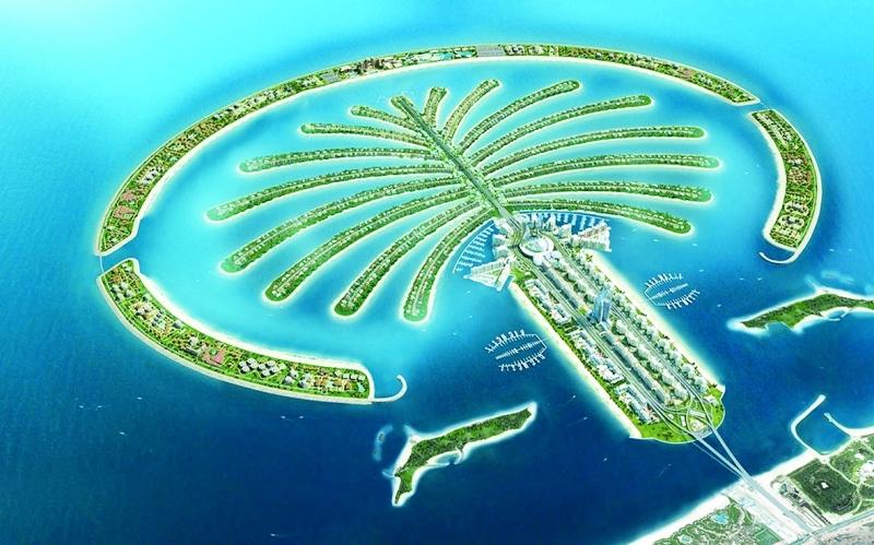 نخلة جميرا اماكن سياحية في دبي