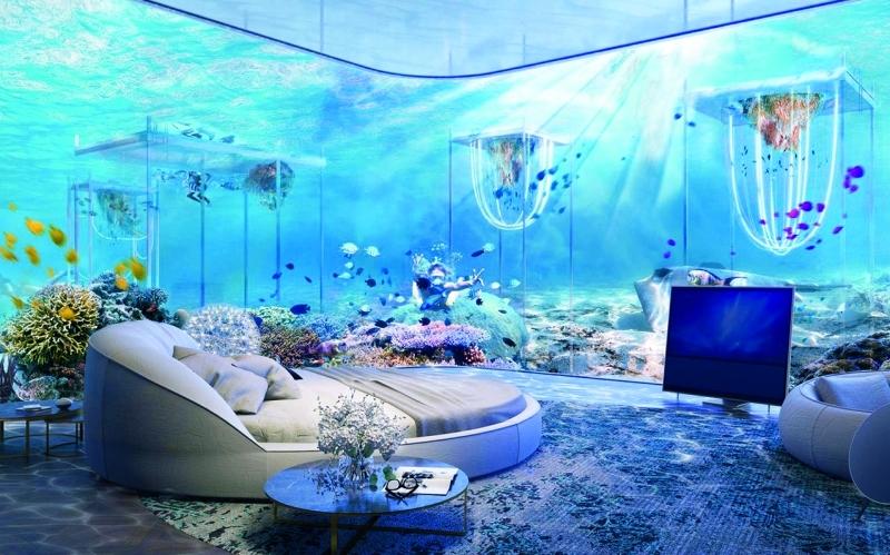 لقطة لاحدى غرف المطاعم تحت الماء  |   من المصدر
