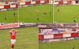 الصورة: الصورة: بالفيديو..لن تصدق ماذا فعل لاعب هولندي والمرمى خالٍ