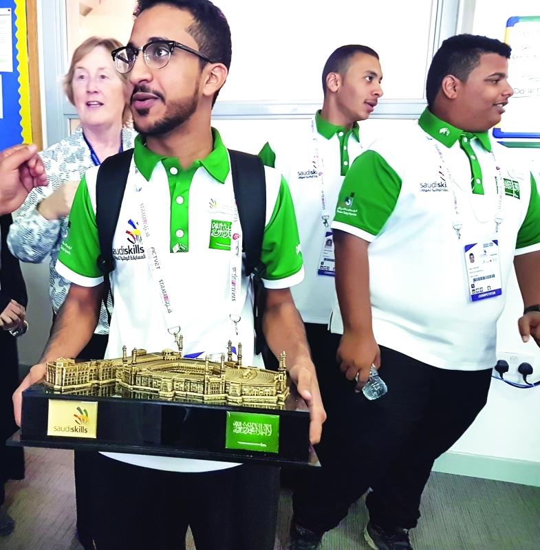 ■ الفريق السعودي المشارك في المسابقة