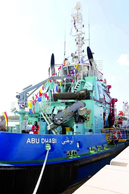 الصورة : المعرض يحتل موقعاً مميزاً يسمح بعرض السفن الكبيرة      تصوير مجدي اسكندر