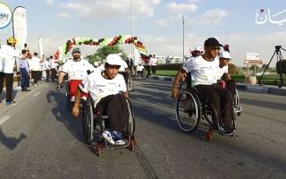 الصورة: أصحاب الهمم  يحطمون «قياسي الكراسي المتحركة» في «غينيس»