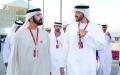 الصورة: محمد بن راشد ومحمد بـن زايـد يشــهدان ختام سباق الفورمولا1