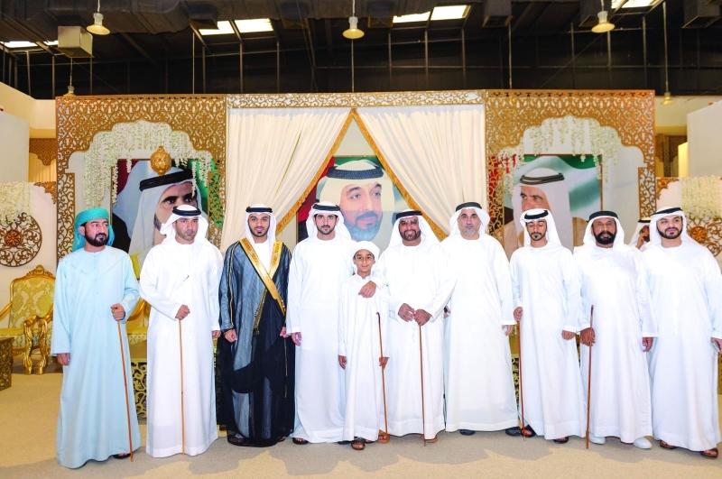 الصورة : ■ ولي عهد دبي خلال حفل الاستقبال