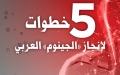 الصورة: 5 خطوات لإنجاز «الجينوم» العربي