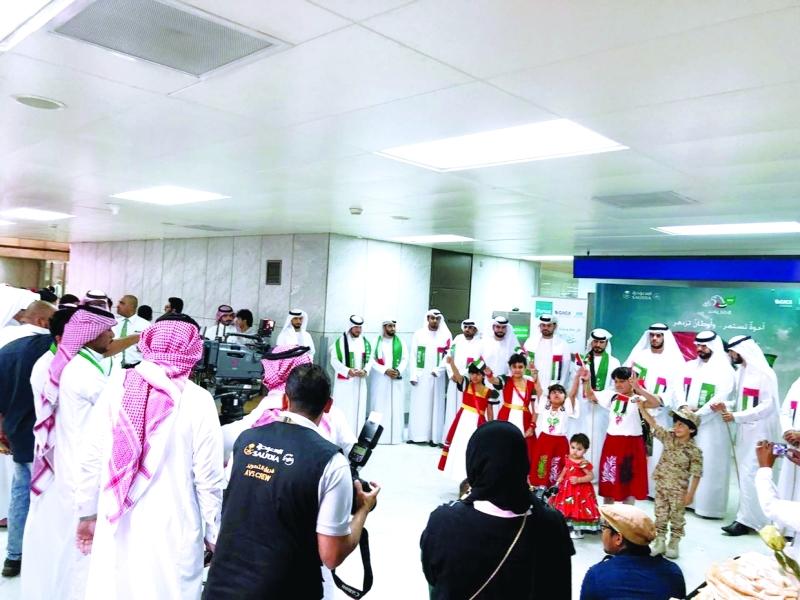 الصورة : ■ مطار جدة يشارك في الاحتفالات الوطنية للإمارات  |  من المصدر