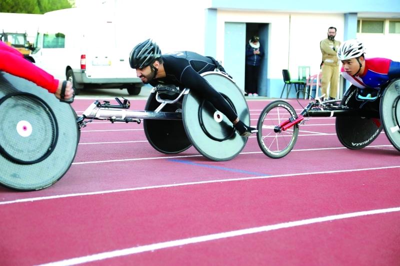 الصورة : البطل الأولمبي محمد القايد في طريقه إلى «الذهب»     البيان