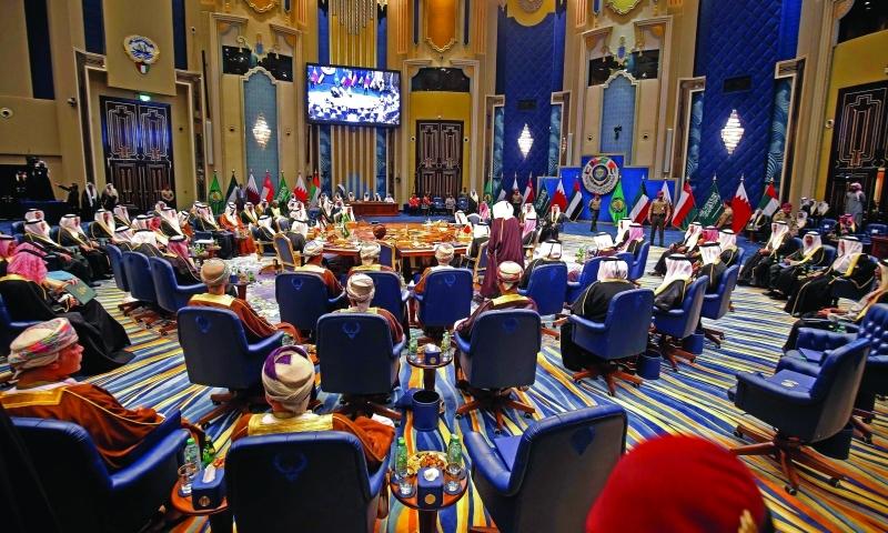 الصورة : من فعاليات قمة الكويت لمجلس التعاون لدول الخليج العربية     أ.ف.ب