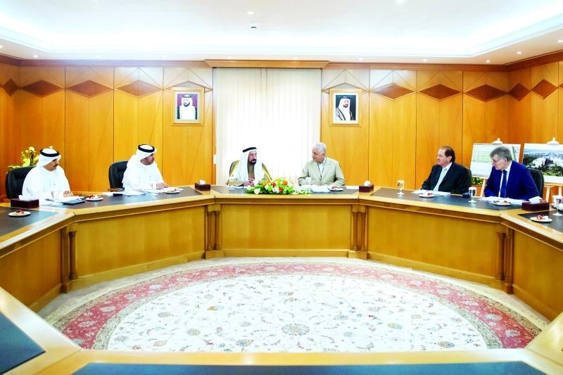 Ⅶ سلطان القاسمي مترئساً الاجتماع الأول لمجلس إدارة مجمع الشارقة للبحوث والتكنولوجيا والابتكار |  من المصدر
