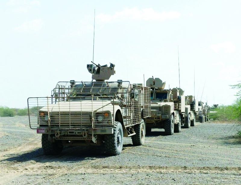 الصورة : ■ تقدم قوات الشرعية في الساحل الغربي لليمن  |  وام