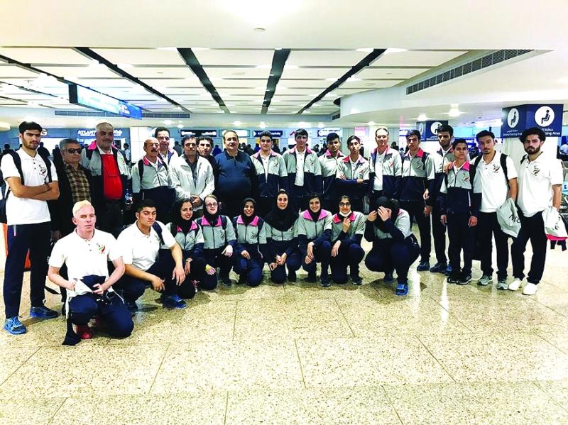 الصورة : منتخبنا المشارك في الألعاب الآسيوية البارالمبية