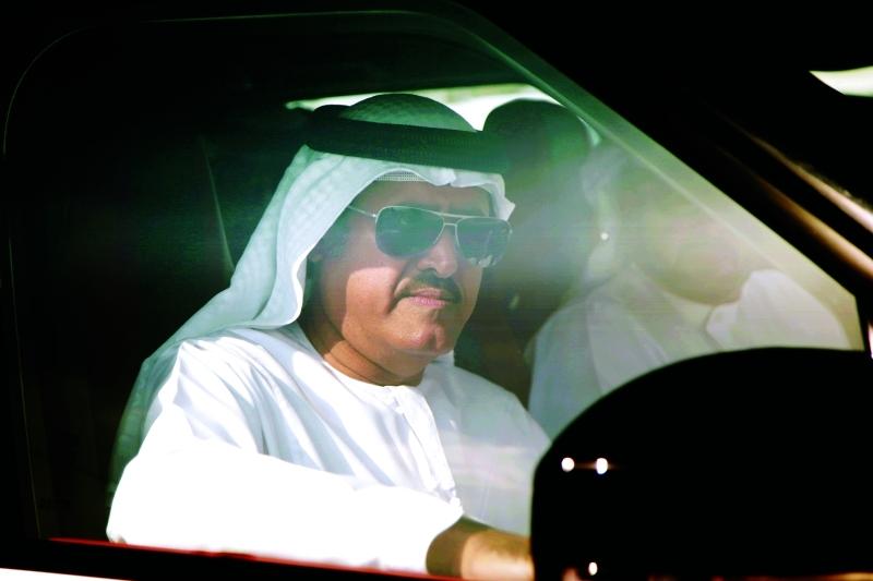الصورة : سلطان بن حمدان آل نهيان لدى حضوره المنافسات