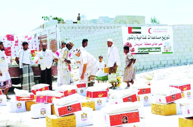 الصورة : مساعدات الإمارات غطت مناحي الحياة كافة للشعب اليمني  |  أرشيفية