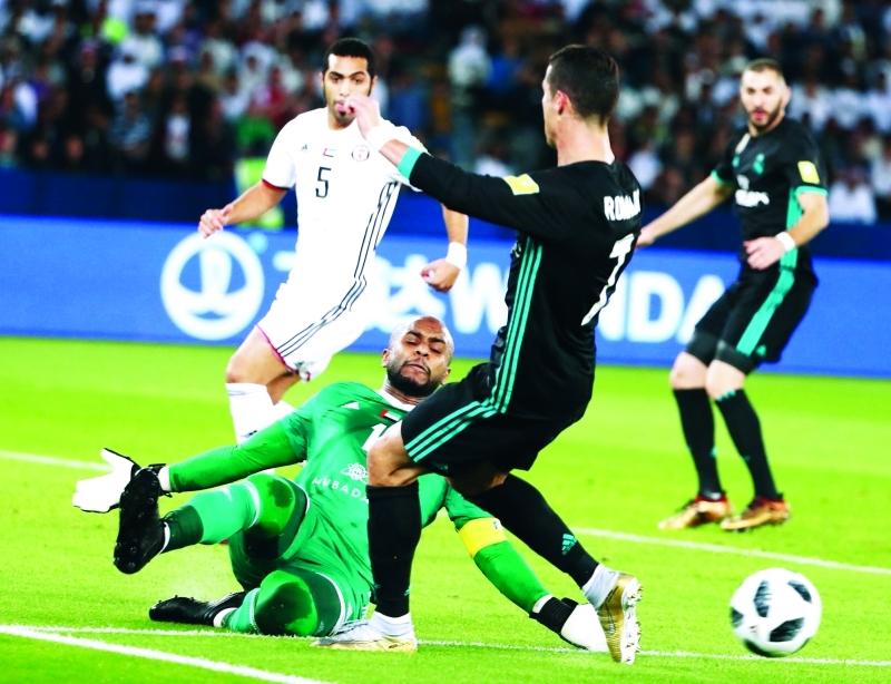 الصورة : Ⅶ  علي خصيف قدّم أداءً بطولياً أمام رونالدو     أ ف ب