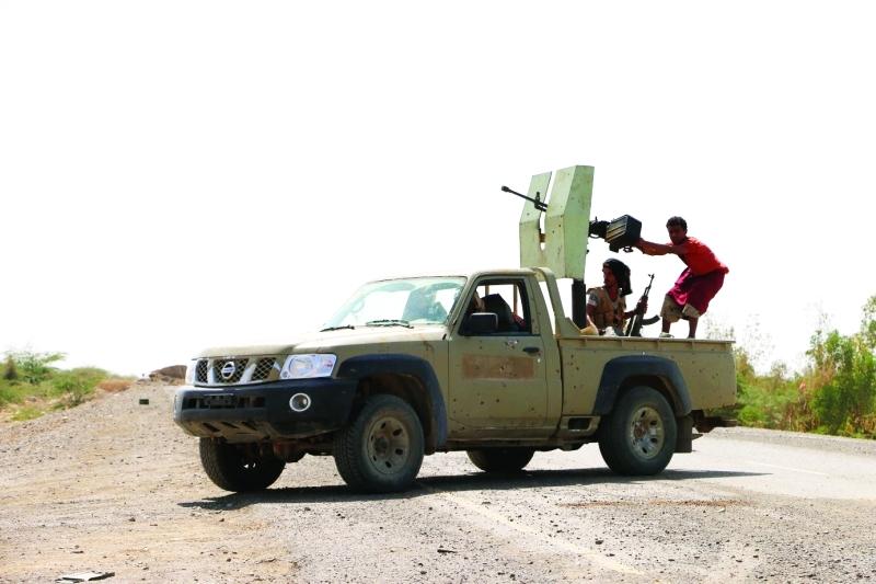 الصورة : قوات الشرعية وتضييق الخناق على مليشيا ايران(تصوير علي جعبور)