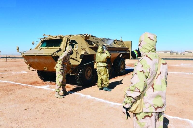 الصورة : عناصر القوات خلال إحدى عمليات التمرين العسكري |  واس