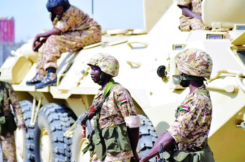 الصورة : ■ طلائع القوات السودانية المشاركة في التحالف العربي خلال وصولها إلى عدن      أرشيفية