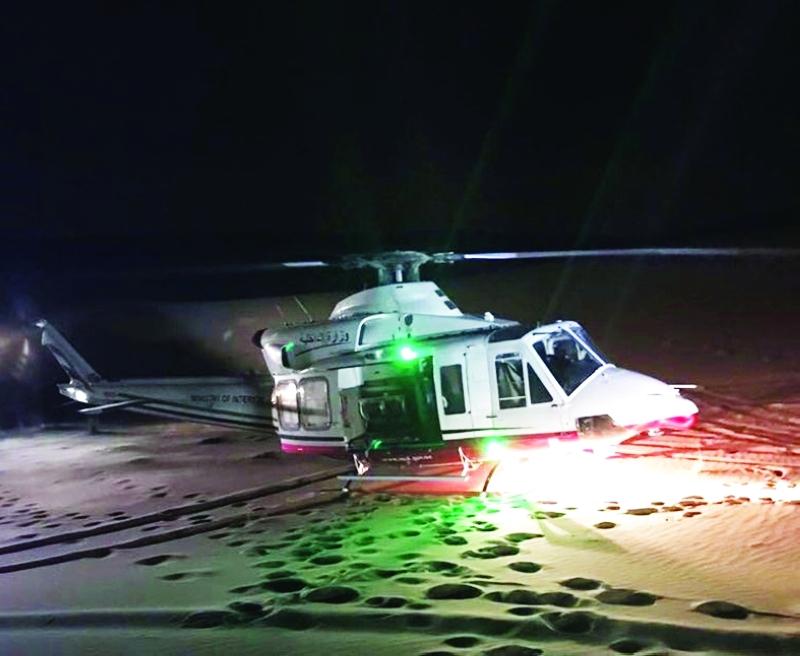 ■ الطائرة لحظة وصولها لإنقاذ المصابين العرب في منطقة الفاية بالشارقة     من المصدر